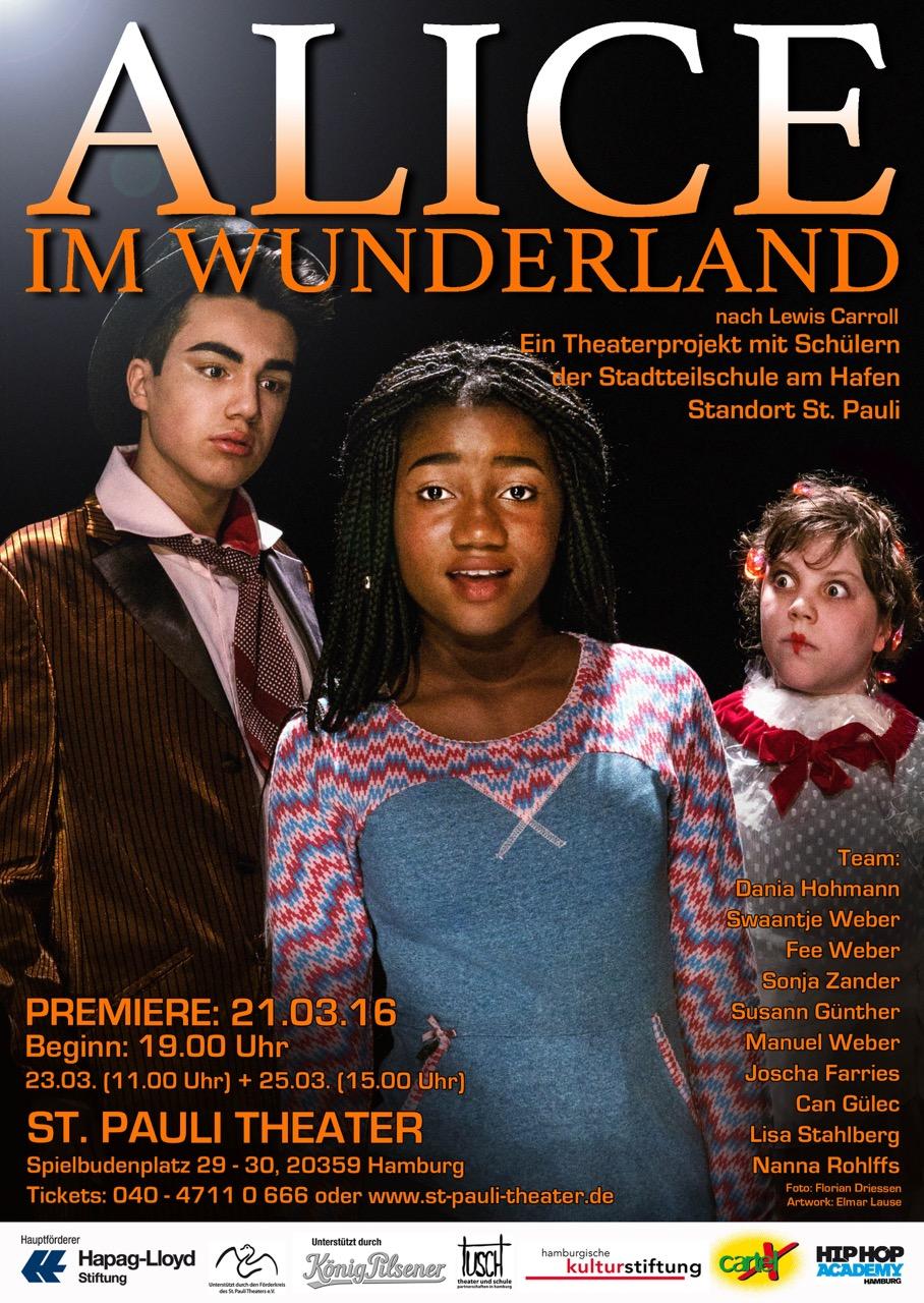 """Gefeiertes Theaterprojekt: """"Alice im Wunderland"""" im St. Pauli Theater"""