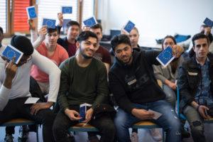 EU Kompaktkurs der Schwarzkopf-Stiftung Junges Europa am Freitag (08.04.2016) in der Stadtteilschule am Hafen in Hamburg. Foto: Steffi Loos/ Schwarzkopf-Stiftung