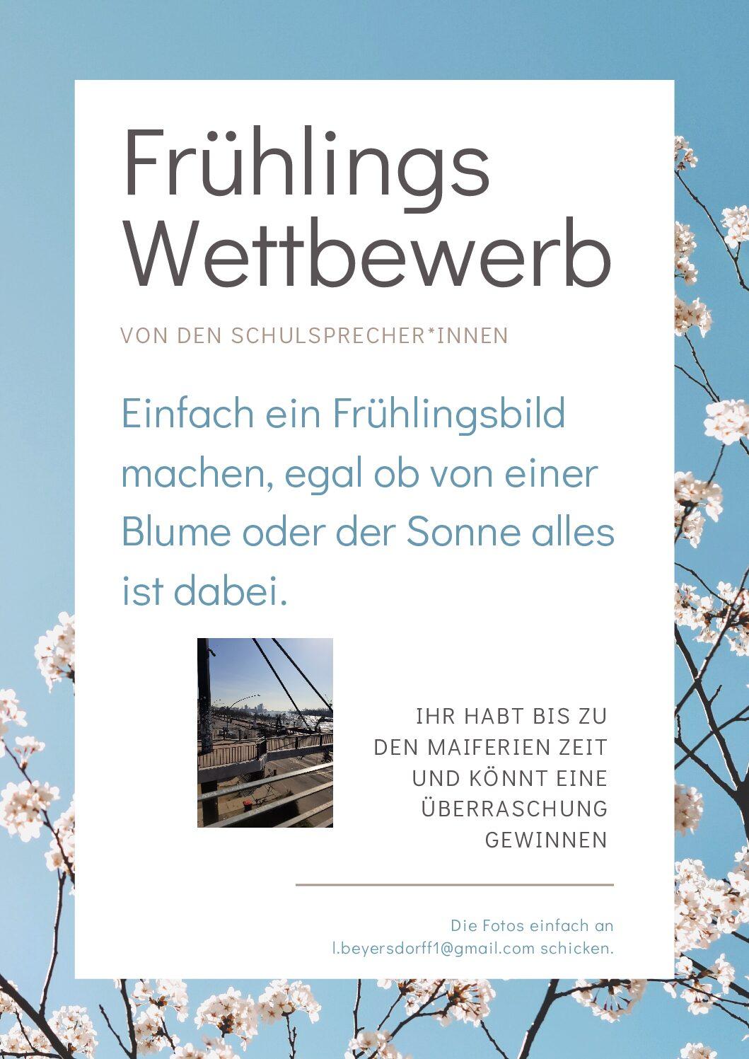 Frühlingswettbewerb – Schick uns dein schönstes Frühlingsbild und gewinne!